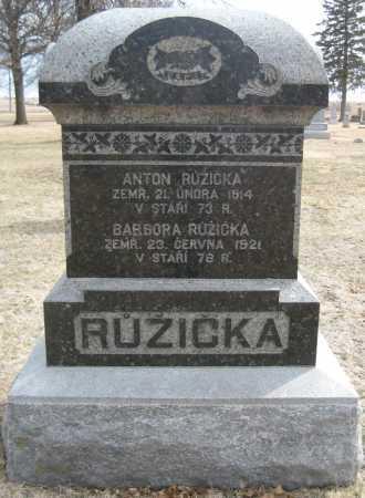 RUZICKA, BARBORA - Saline County, Nebraska   BARBORA RUZICKA - Nebraska Gravestone Photos