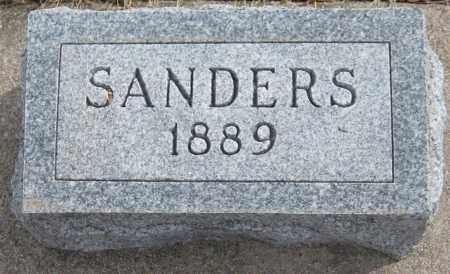 SANDERS, UNKNOWN - Saline County, Nebraska | UNKNOWN SANDERS - Nebraska Gravestone Photos