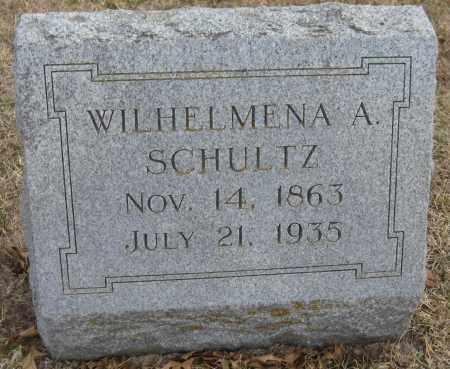 SCHULTZ, WILHELMENA A. - Saline County, Nebraska | WILHELMENA A. SCHULTZ - Nebraska Gravestone Photos