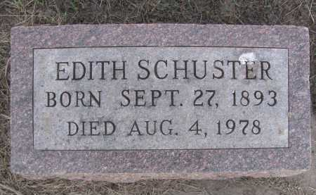 SCHUSTER, EDITH - Saline County, Nebraska | EDITH SCHUSTER - Nebraska Gravestone Photos