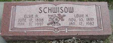 SCHWISOW, ELSIE A. - Saline County, Nebraska | ELSIE A. SCHWISOW - Nebraska Gravestone Photos