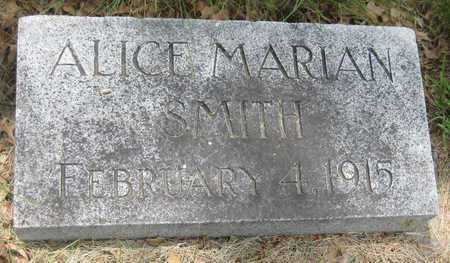 SMITH, ALICE MARIAN - Saline County, Nebraska | ALICE MARIAN SMITH - Nebraska Gravestone Photos