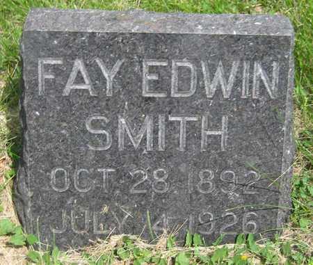 SMITH, FAY EDWIN - Saline County, Nebraska   FAY EDWIN SMITH - Nebraska Gravestone Photos