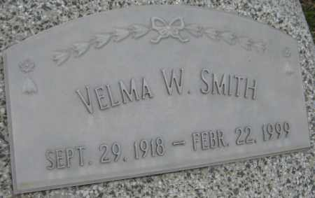 SMITH, VELMA W. - Saline County, Nebraska   VELMA W. SMITH - Nebraska Gravestone Photos