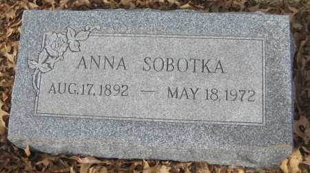 SOBOTKA, ANNA - Saline County, Nebraska   ANNA SOBOTKA - Nebraska Gravestone Photos