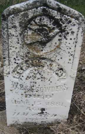 SOWDERS, BERTHA MAY - Saline County, Nebraska | BERTHA MAY SOWDERS - Nebraska Gravestone Photos