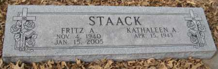 STAACK, KATHALEEN A. - Saline County, Nebraska   KATHALEEN A. STAACK - Nebraska Gravestone Photos