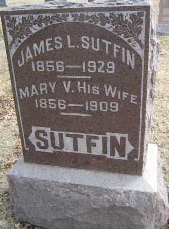 SUTFIN, JAMES L. - Saline County, Nebraska | JAMES L. SUTFIN - Nebraska Gravestone Photos