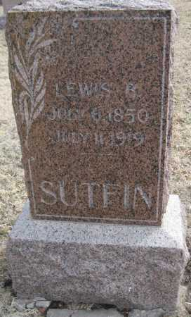 SUTFIN, LEWIS B. - Saline County, Nebraska   LEWIS B. SUTFIN - Nebraska Gravestone Photos