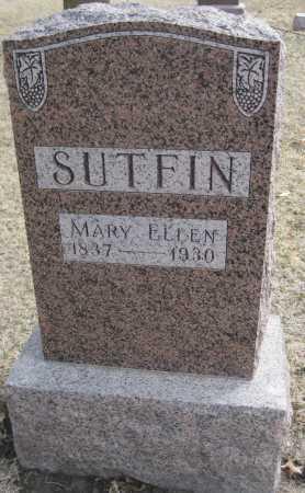 SUTFIN, MARY ELLEN - Saline County, Nebraska | MARY ELLEN SUTFIN - Nebraska Gravestone Photos