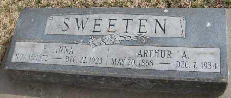 SWEETEN, ARTHUR A. - Saline County, Nebraska | ARTHUR A. SWEETEN - Nebraska Gravestone Photos
