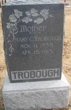 RICHARD TROBOUGH, MARY CATHERINE - Saline County, Nebraska   MARY CATHERINE RICHARD TROBOUGH - Nebraska Gravestone Photos