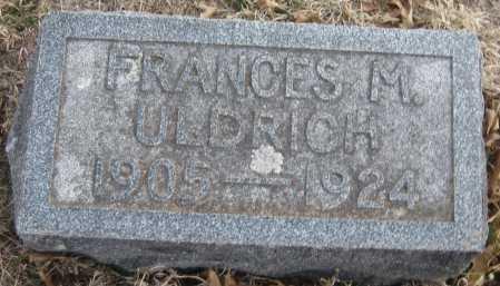 ULDRICH, FRANCES M. - Saline County, Nebraska | FRANCES M. ULDRICH - Nebraska Gravestone Photos