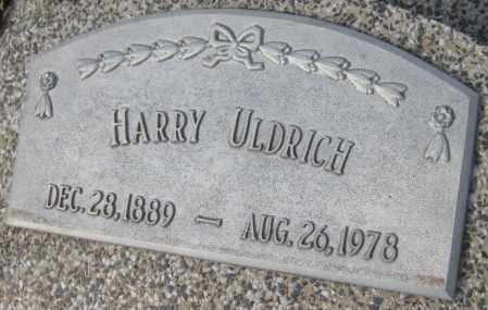 ULDRICH, HARRY - Saline County, Nebraska | HARRY ULDRICH - Nebraska Gravestone Photos