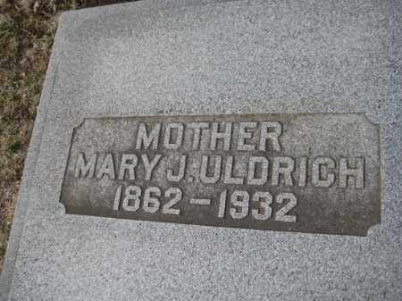 ULDRICH, MARY J. - Saline County, Nebraska | MARY J. ULDRICH - Nebraska Gravestone Photos