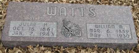 WATTS, WILLIAM M. - Saline County, Nebraska | WILLIAM M. WATTS - Nebraska Gravestone Photos