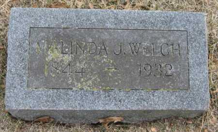 WELCH, MALINDA J. - Saline County, Nebraska | MALINDA J. WELCH - Nebraska Gravestone Photos
