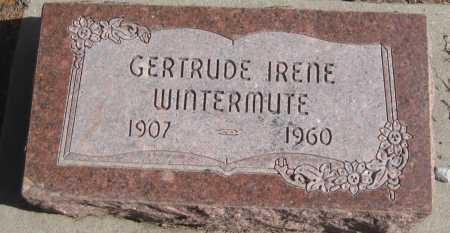 WINTERMUTE, GERTRUDE IRENE - Saline County, Nebraska   GERTRUDE IRENE WINTERMUTE - Nebraska Gravestone Photos