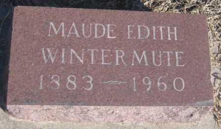 WINTERMUTE, MAUDE EDITH - Saline County, Nebraska   MAUDE EDITH WINTERMUTE - Nebraska Gravestone Photos