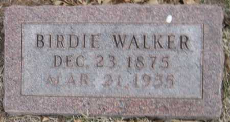 WALKER, BIRDIE - Saline County, Nebraska | BIRDIE WALKER - Nebraska Gravestone Photos