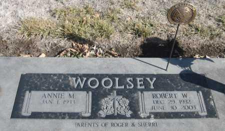 WOOLSEY, ANNIE M. - Saline County, Nebraska   ANNIE M. WOOLSEY - Nebraska Gravestone Photos