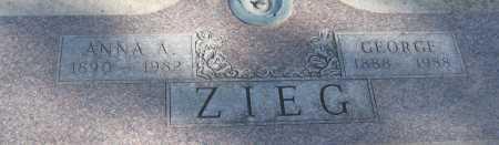 ZIEG, ANNA A. - Saline County, Nebraska | ANNA A. ZIEG - Nebraska Gravestone Photos