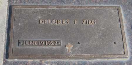ZIEG, DELORES F. - Saline County, Nebraska | DELORES F. ZIEG - Nebraska Gravestone Photos