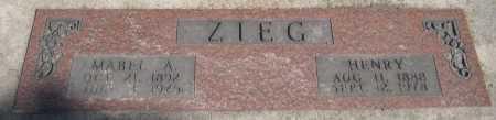 ZIEG, MABEL A. - Saline County, Nebraska | MABEL A. ZIEG - Nebraska Gravestone Photos