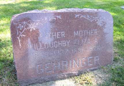GEHRINGER, ELIZA A. - Sarpy County, Nebraska   ELIZA A. GEHRINGER - Nebraska Gravestone Photos