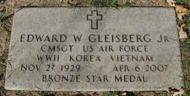 GLEISBERG, JR., EDWARD W. - Sarpy County, Nebraska | EDWARD W. GLEISBERG, JR. - Nebraska Gravestone Photos