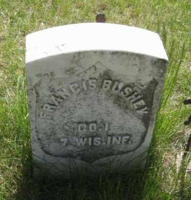 BUSHEY, FRANCIS - Saunders County, Nebraska | FRANCIS BUSHEY - Nebraska Gravestone Photos
