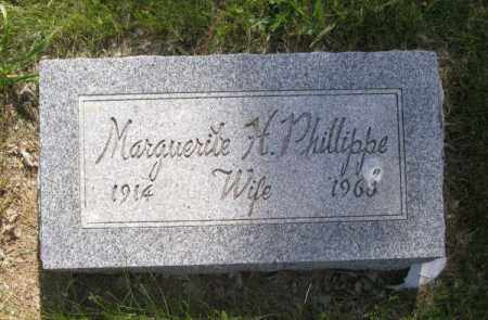 PHILLIPPE, MARGUERITE H. - Saunders County, Nebraska | MARGUERITE H. PHILLIPPE - Nebraska Gravestone Photos