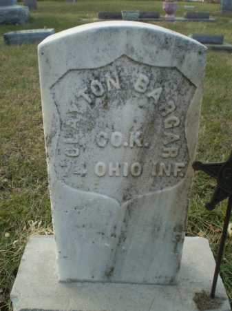 BARGER, CLAYTON - Saunders County, Nebraska | CLAYTON BARGER - Nebraska Gravestone Photos