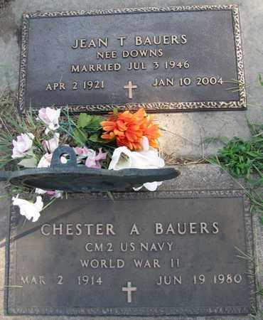 DOWNS BAUERS, JEAN T. - Saunders County, Nebraska | JEAN T. DOWNS BAUERS - Nebraska Gravestone Photos