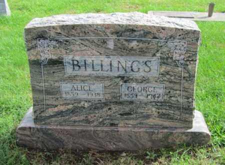 BILLINGS, GEORGE - Saunders County, Nebraska | GEORGE BILLINGS - Nebraska Gravestone Photos