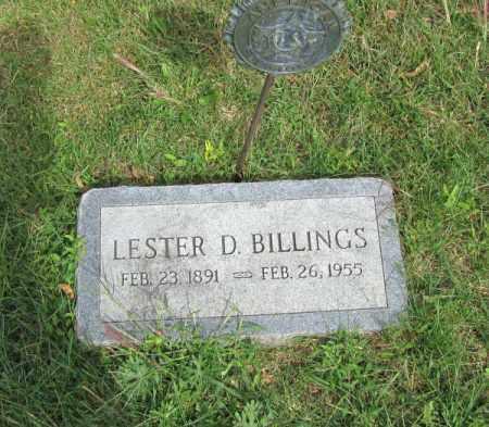 BILLINGS, LESTER D. - Saunders County, Nebraska | LESTER D. BILLINGS - Nebraska Gravestone Photos