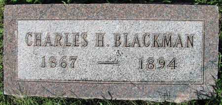 BLACKMAN, CHARLES H. - Saunders County, Nebraska   CHARLES H. BLACKMAN - Nebraska Gravestone Photos