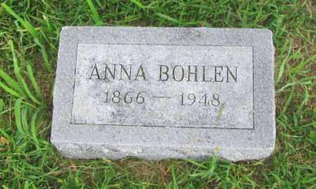 BOHLEN, ANNA - Saunders County, Nebraska | ANNA BOHLEN - Nebraska Gravestone Photos