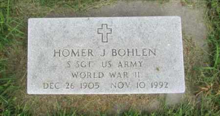 BOHLEN, HOMER J. - Saunders County, Nebraska | HOMER J. BOHLEN - Nebraska Gravestone Photos