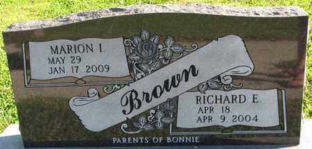BROWN, RICHARD E. - Saunders County, Nebraska | RICHARD E. BROWN - Nebraska Gravestone Photos