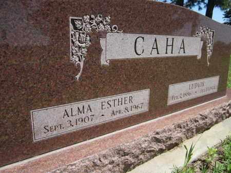 CAHA, ALMA ESTHER - Saunders County, Nebraska | ALMA ESTHER CAHA - Nebraska Gravestone Photos