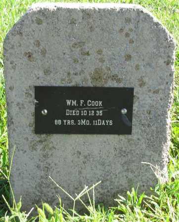 COOK, WILLIAM F. - Saunders County, Nebraska | WILLIAM F. COOK - Nebraska Gravestone Photos