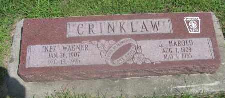 CRINKLAW, INEZ - Saunders County, Nebraska | INEZ CRINKLAW - Nebraska Gravestone Photos