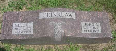 CRINKLAW, JOHN A. - Saunders County, Nebraska | JOHN A. CRINKLAW - Nebraska Gravestone Photos