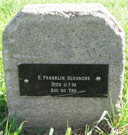 DENSMORE, E. FRANKLIN - Saunders County, Nebraska | E. FRANKLIN DENSMORE - Nebraska Gravestone Photos