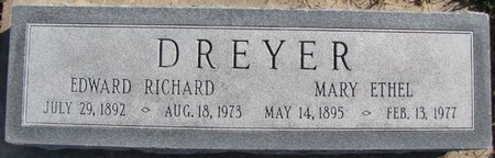 DREYER, MARY ETHEL - Saunders County, Nebraska | MARY ETHEL DREYER - Nebraska Gravestone Photos