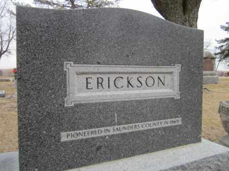 ERICKSON, (FAMILY MONUMENT) - Saunders County, Nebraska | (FAMILY MONUMENT) ERICKSON - Nebraska Gravestone Photos