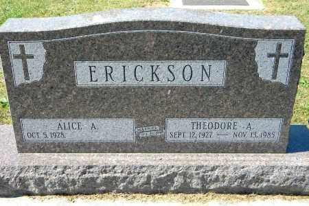 ERICKSON, ALICE A - Saunders County, Nebraska | ALICE A ERICKSON - Nebraska Gravestone Photos