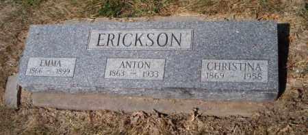 ERICKSON, CHRISTINA - Saunders County, Nebraska | CHRISTINA ERICKSON - Nebraska Gravestone Photos
