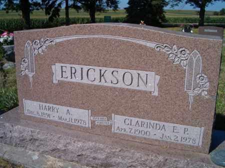 ERICKSON, HARRY A - Saunders County, Nebraska | HARRY A ERICKSON - Nebraska Gravestone Photos